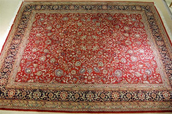 5: HAND KNOTTED ORIENTAL SAROUK - APPROXIMATELY
