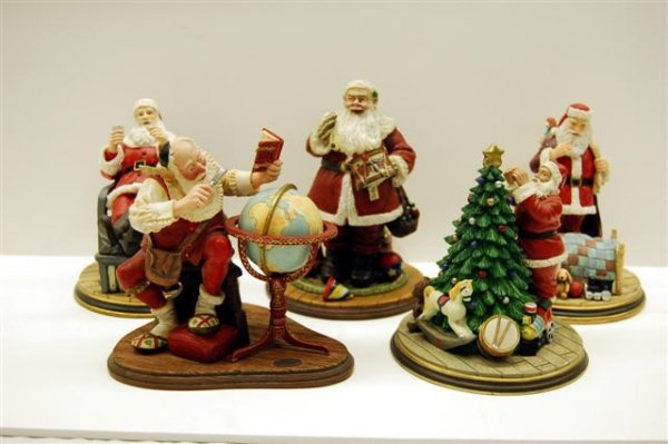 "13: FIVE NORMAN ROCKWELL LIMITED EDITION FIGURES - "" A"