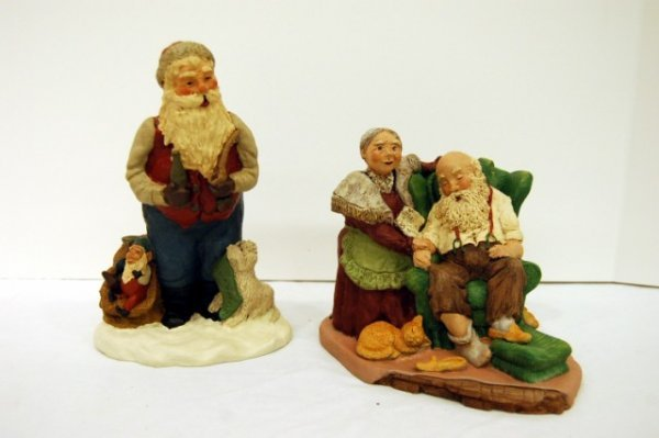 203: TWO LIMITED EDITION SANTA FIGURES BY SUSAN McLAURI