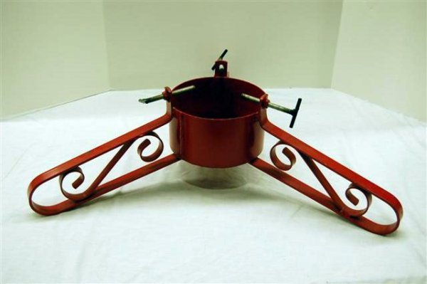 """210: MODERN WROUGHT STEEL TREE STAND - 8"""" T, 28"""" DIA"""