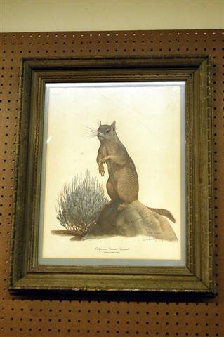 403: FRAMED & MATTED RAY HARM PRINT - PENCIL SIGNED - C