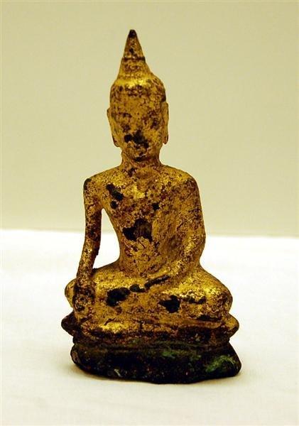 Gilt over Carved Stone Thai Buddah