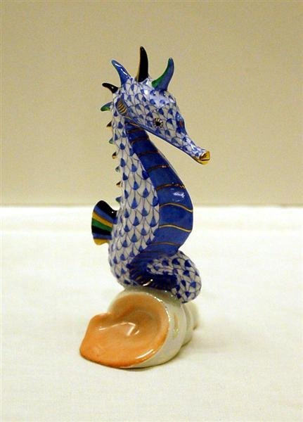 """Herend Seahorse - 4 """" tall"""
