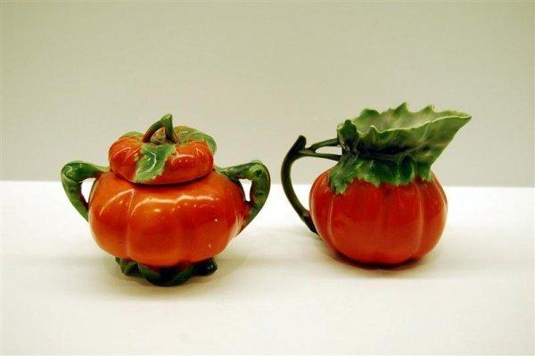 Royal Bayreuth Tomato Ware Cream & Sugar