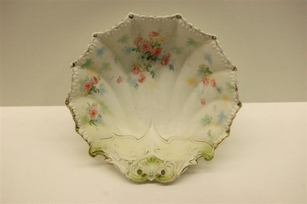 R.S. Prussia Porcelain Bowl decorated with roses