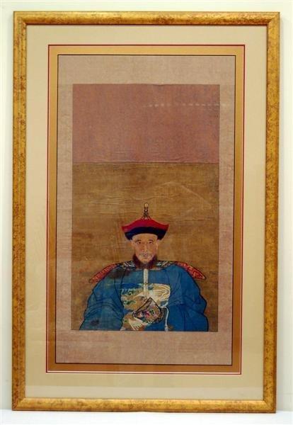 Chinese Ancestor Scroll in gilt frame