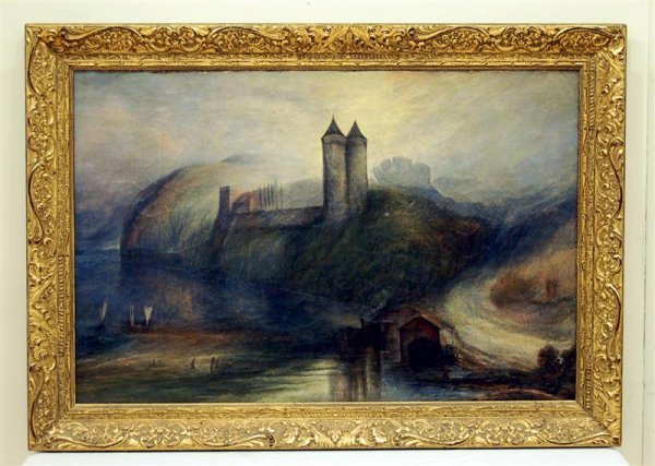 19th Century Oil on Canvas Landscape with Castle