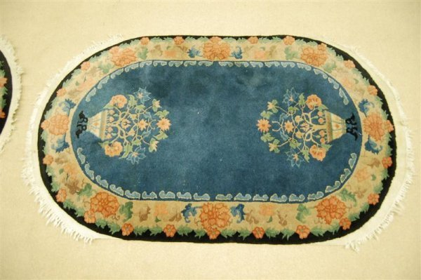 Pair of Nichols Chinese Wool on Cotton Area Rugs