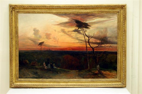 19th Century Oil on Canvas, Western Landscape