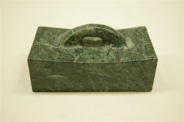 """Green Marble Chop Stand - 2""""  x  2""""  x  4"""""""