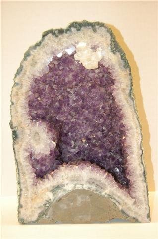 """Large Amethyst Geode - 15""""  tall x 9 1/8"""" wide"""