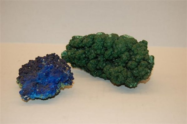 """Two Rock Formations - 1 green  (5"""") and 1 blue"""