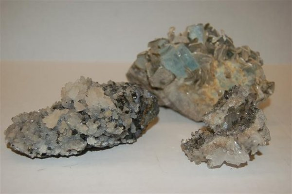 """Three Crystal Formations - Largest 3 1/2"""" x  5 1/2"""""""
