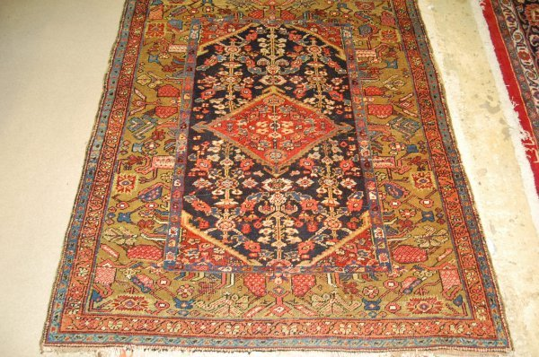 "Semi Antique Persian Rug - Approx. 53 1/2"" x 63 1/2"""