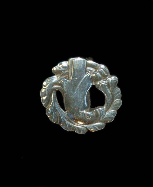 Signed George Jensen Sterling Brooch - Bird Motif