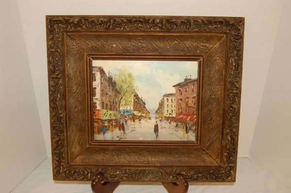 Impressionistic Oil on Panel - Paris Street Scene