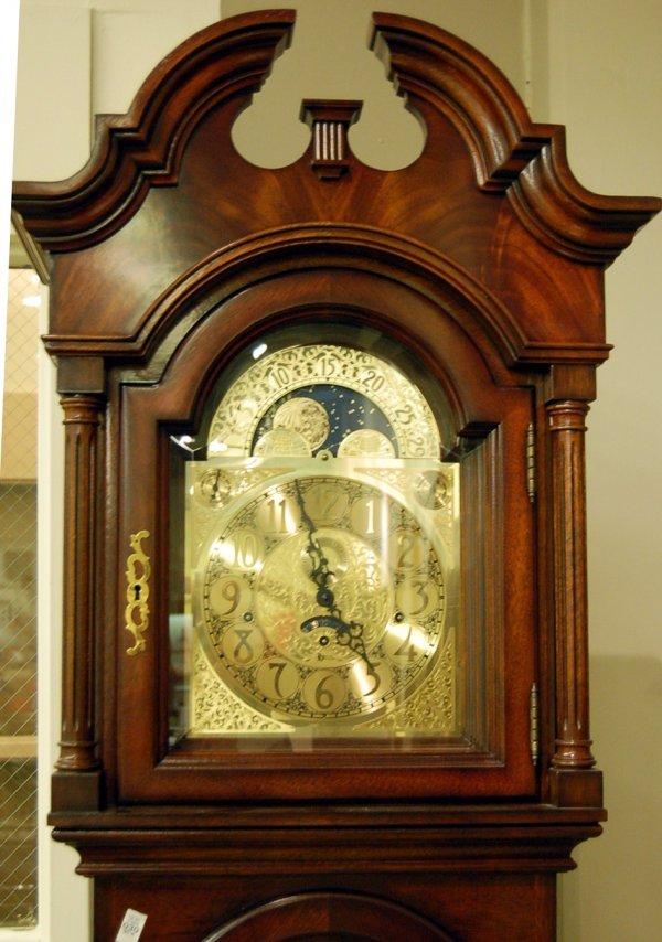 Mahogany Cased Heritage Heirloom Grandfather Clock  - 2
