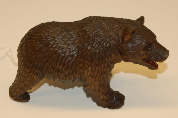 13: Black Forest Wooden Carving of Bear - 2 1/8 tall x