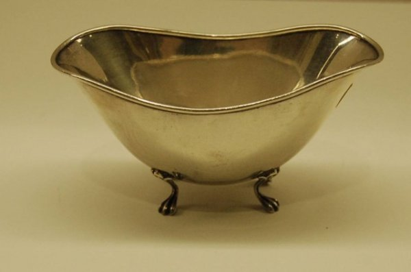 18: Sterling Bon Bon with Claw Feet by Towle - incised