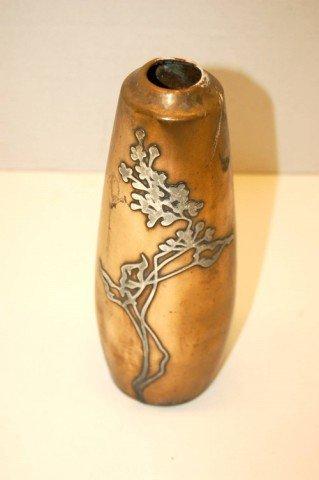 22: Sterling over Bronze Vase - Dogwood - AHMS - patent