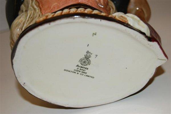 """1: Large Royal Doulton Toby - """"Aramis"""" d-6441 - 7"""" T - 2"""