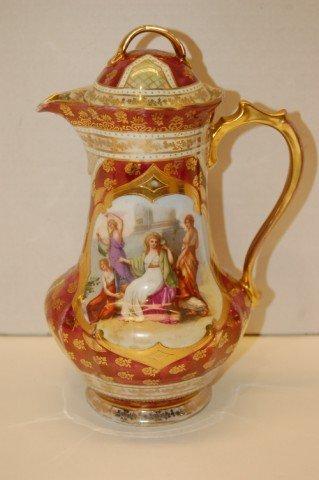 5: Royal Vienna Chocolate Pot - Classical Scene w/ Gold