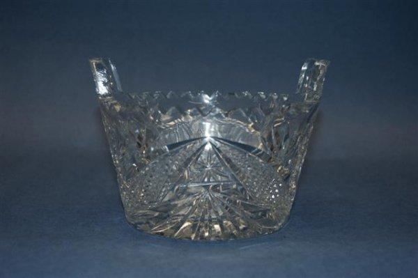 "7: Cut Glass Ice Bucket - 4"" T x 5 1/2"" across handles - 2"