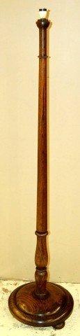 """9: English Oak Floor Lamp Base - 59 1/2"""" T x 14 1/2"""" Di"""