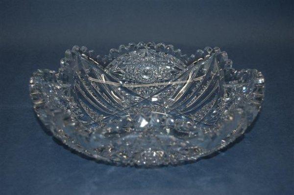 22: American Brilliant Period Cut Glass Shaped Seving B
