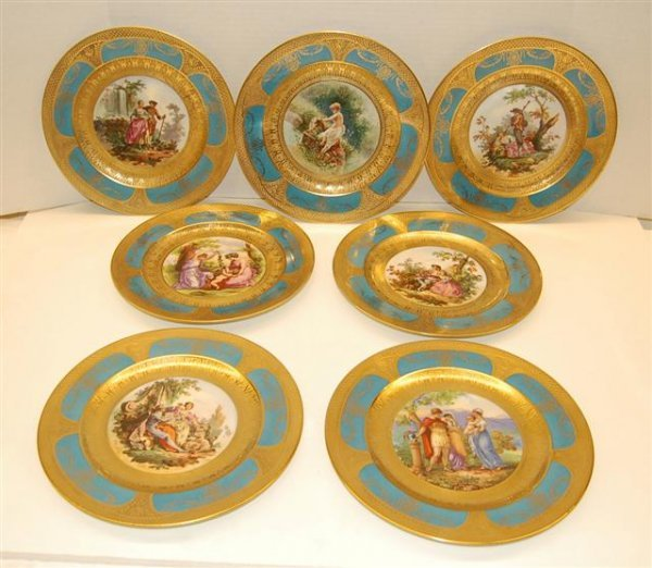 155: Eight Limoges Place Plates