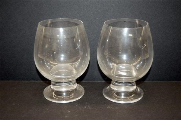 """2: Pair of Rosenthal Crystal Brandy Snifters - 5 3/4"""" T"""