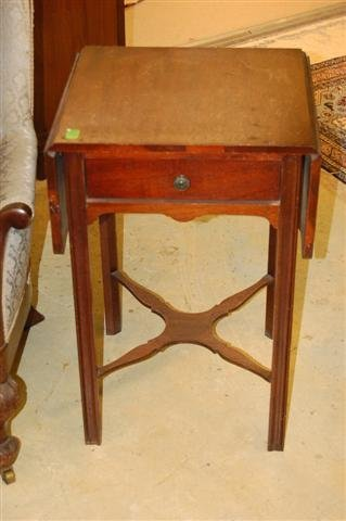4: Mahogany Chippendale STyle Drop Leaf Stand - One (1)