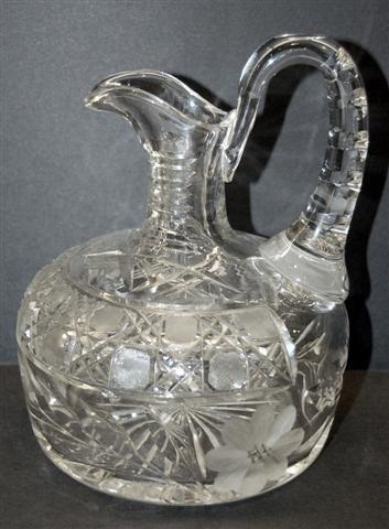 12: American Cut Glass Decanter - Russian & Floral Cut