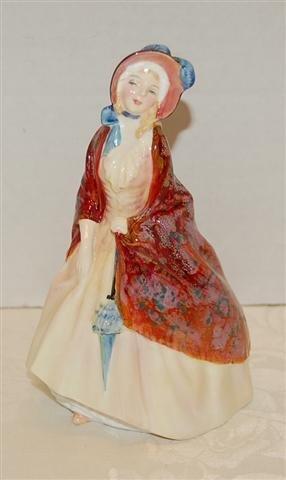 "17: Royal Doulton Figurine - "" Paisley Shawl "" # HN1988"
