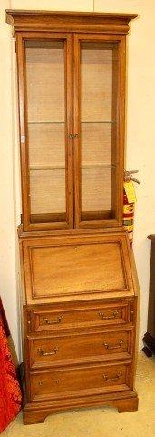15: Italian Style Fruitwood Secretary Bookcase