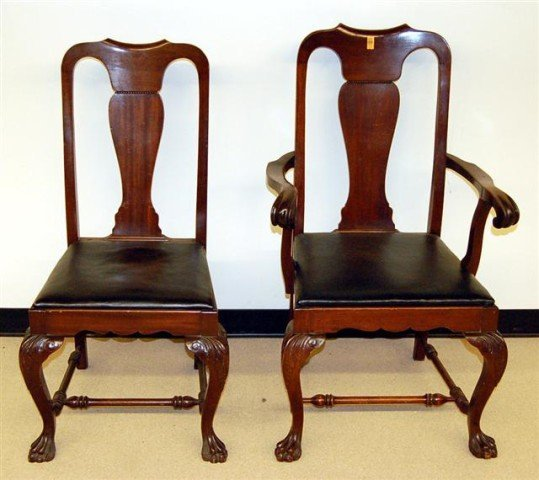 14: Twelve Mahogany Slip Seat Dining Chairs