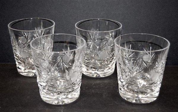 13: Four Cut Glass Juice Glasses