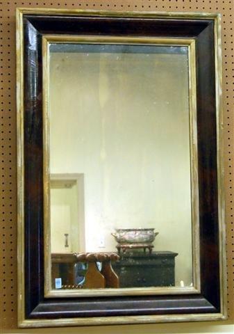 14: 19th Century Mahogany & Gilt Ogee Framed Mirror - 4