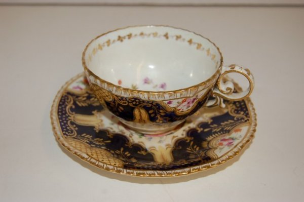 8: 19th Century English Gaudy Decorated Cup & Saucer