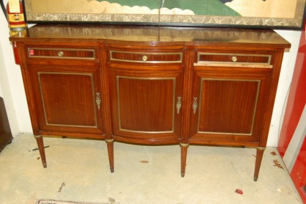 20: Mahogany Louis XVI style Shaped Front Sideboard