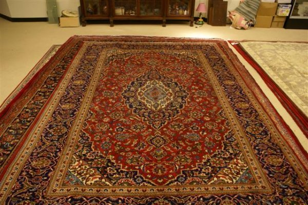 """10: Hand Knotted Persian Kashan - approximately 8' 1"""" x"""