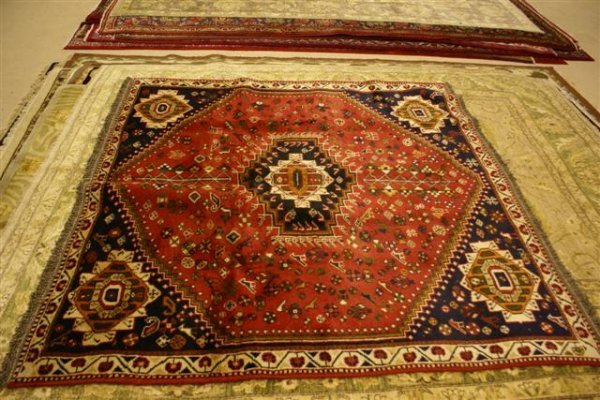"""13: Hand Knotted Persian Shiraz - approximately 6' 5"""" x"""