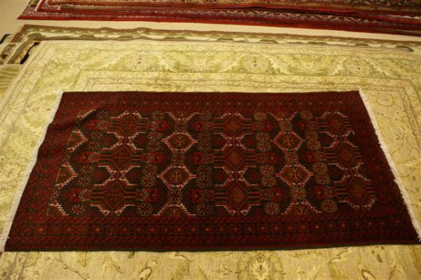 """14: Hand Knotted Persian Belouch - approximately 3' 3"""""""