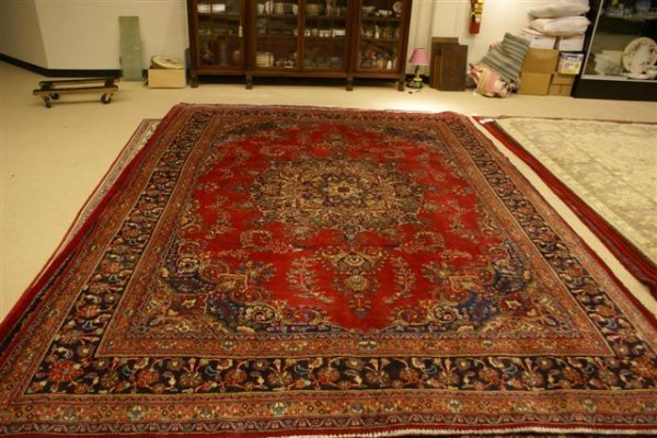 """15: Hand Knotted Persian Tabriz - approximately 9' 10"""""""