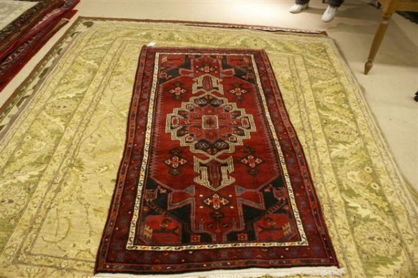 """17: Hand Knotted Persian Hamadan - approximately 3' 7"""""""