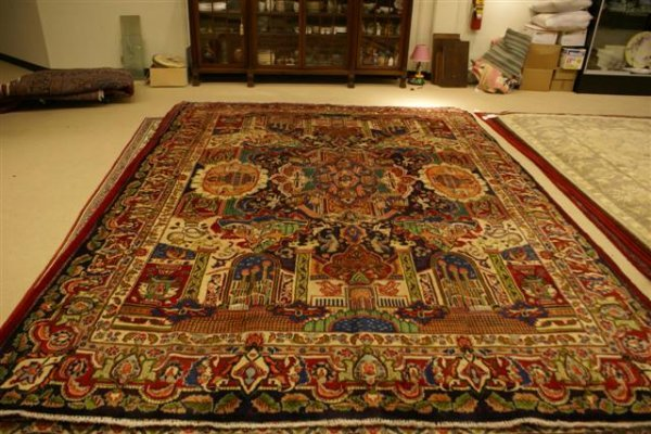 """20: Hand Knotted Persian Kashmar - approximately 9' 10"""""""