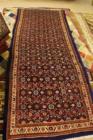 """22: Hand Knotted Persian Mahal - approximately 3' 7"""" x"""