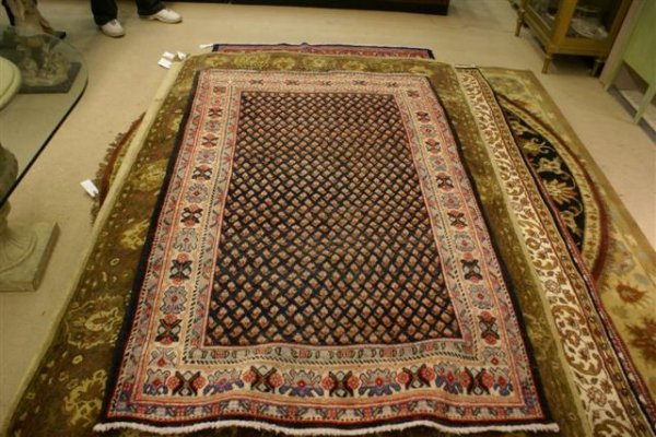 """24: Hand Knotted Persian Mir - approximately 4' 6"""" x 7'"""