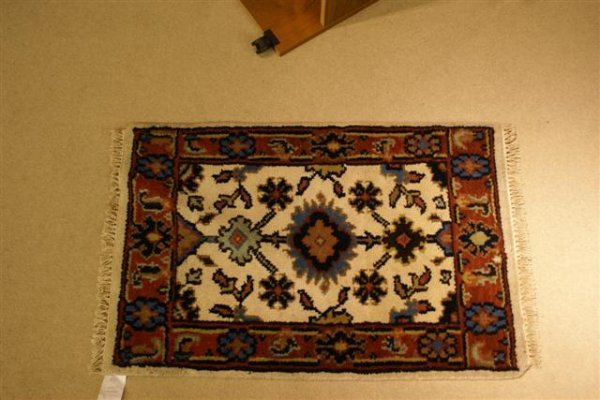 114: Hand Knotted Indo Mahal - approximately 2' x 3'