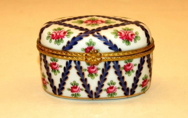 3: Royal Danube Hand Painted Porcelain Patch Box